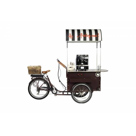 Vélo cargo triporteur café